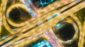 Rede da vista aérea ou interseção da estrada da estrada para o fundo do conceito do transporte ou da distribuição imagem de stock royalty free