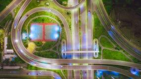 Rede da vista aérea ou interseção da estrada da estrada para o fundo do conceito do transporte ou da distribuição fotografia de stock royalty free
