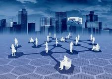 Rede de comércio electrónico Imagem de Stock