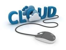 Rede de computação da nuvem Imagens de Stock Royalty Free