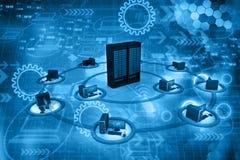 Rede de computação da nuvem Fotografia de Stock