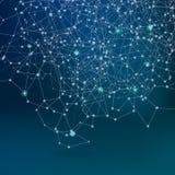 Rede de comunicação abstrata, fundo escuro do esquema Fotos de Stock Royalty Free