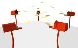 A rede de comunicação 3d rende no fundo branco Imagens de Stock Royalty Free