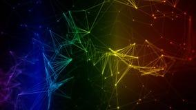 Rede de dados iridescente colorida de Digitas do arco-íris do fundo abstrato do movimento ilustração do vetor
