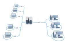 Rede de Digitas ilustração stock