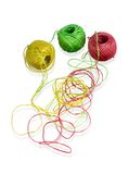Rede de bolas coloridas das lãs Foto de Stock Royalty Free