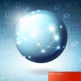Rede de informação do globo Imagens de Stock Royalty Free