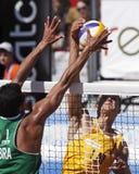 Rede de latvia Brasil do voleibol da praia Foto de Stock