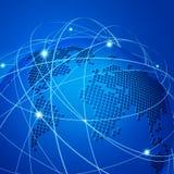 Rede de malha da tecnologia  Fotos de Stock