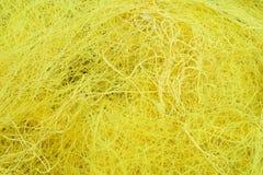 Rede de pesca amarela Fotografia de Stock