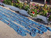 Rede de pesca azul Imagens de Stock Royalty Free