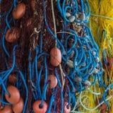 Rede de pesca colorida fotos de stock