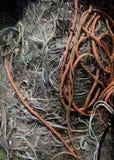 Rede de pesca e corda imagens de stock royalty free