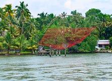 Rede de pesca em Kerala, Índia Imagens de Stock Royalty Free
