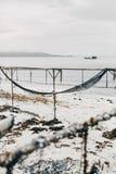 Rede de pesca na praia Fotografia de Stock