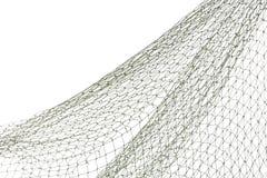 Rede de pesca no fundo branco imagem de stock