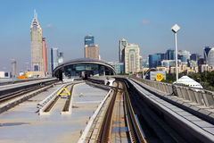 Rede de trilho do metro Imagem de Stock Royalty Free