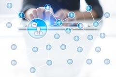 Rede do ícone dos povos SMM Mercado social dos media imagens de stock royalty free