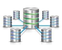 Rede do base de dados Imagem de Stock Royalty Free
