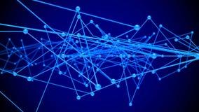 Rede do conceito no fundo azul 3d rendem ilustração royalty free