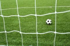Rede do futebol Fotografia de Stock