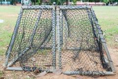 Rede do futebol do ouro Imagem de Stock