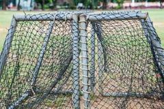 Rede do futebol do ouro Imagens de Stock Royalty Free
