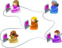 Rede do negócio ilustração royalty free