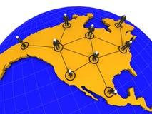 Rede do negócio de America do Norte Fotografia de Stock