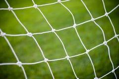 Rede do objetivo do futebol do futebol Foto de Stock Royalty Free