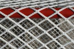 Rede do objetivo do hóquei, detalhe foto de stock