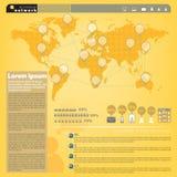 Rede do relacionamento do presente de Infographic no mundo Imagem de Stock Royalty Free