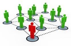 rede do social 3d ilustração stock