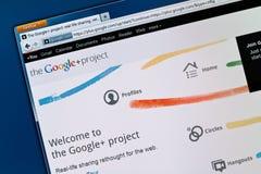Rede do Social de Google+ Imagens de Stock