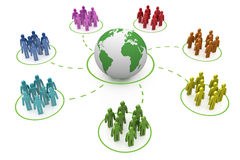 Rede do social do arco-íris Imagens de Stock Royalty Free