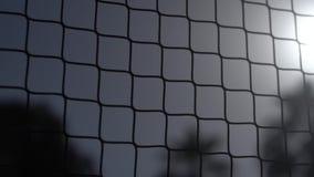 Rede do voleibol na praia perto da palma três no movimento lento vídeos de arquivo