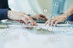 Rede dos povos Estrutura de organização Hora Media sociais Conceito do Internet e da tecnologia foto de stock royalty free