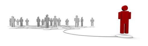 Rede dos povos - ligações de comunicação Fotos de Stock