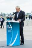 Rede durch Bernhard Gerwert, Hauptgeschäftsführer Officer, Airbus-Verteidigung u. Raum Stockfoto