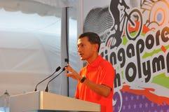 Rede durch Minister lizenzfreies stockfoto