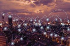 Rede e ponto sociais Imagem de Stock