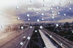 Rede e ponto sociais Imagens de Stock