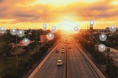 Rede e ponto sociais Fotografia de Stock