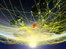 Rede em torno de Países Baixos do espaço ilustração royalty free