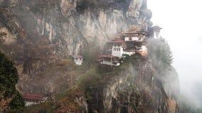 Rede för Taktsang tiger` s, dentagande dragningen i Bhutan Royaltyfri Foto