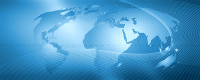 Rede, fundo azul Imagem de Stock Royalty Free