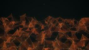 Rede futurista abstrata do fundo da tecnologia e da ciência, fundo do plexo ação animation 4K ilustração stock