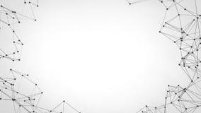 Rede futurista da tecnologia abstrata - fundo do plexo imagem de stock royalty free