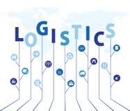 Rede global da logística Conexão global da parceria da logística do mapa Ideia da árvore do crescimento com conceitos globais da  ilustração do vetor