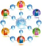 Rede global de uma comunicação empresarial ilustração do vetor